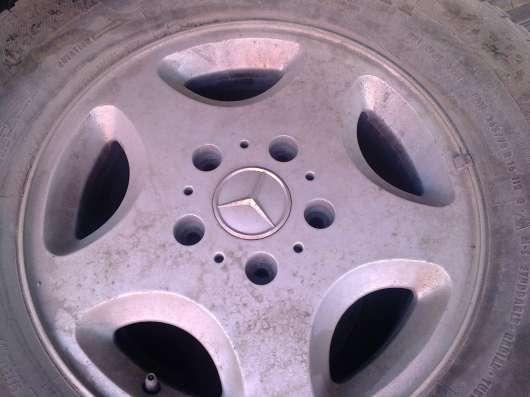 Диски Mercedes r16 ET63, 5x130 с зимней резиной