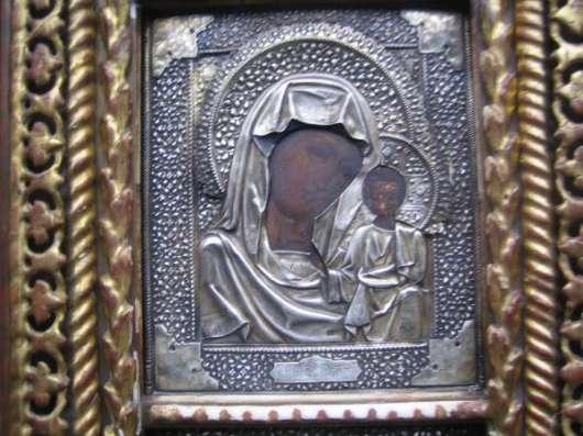 Старинный иконостас-Триптих-,оклады-серебро 84*,XIXв в Москве Фото 3
