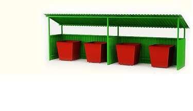 Бункер ТБО, контейнер ТБО, контейнерные площадки в Екатеринбурге Фото 1