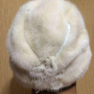Шапка норковая белая в Комсомольске-на-Амуре Фото 2