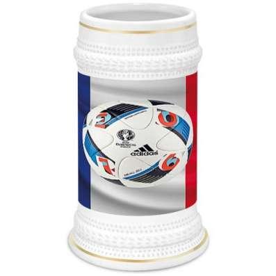 Сувенирная пивная кружка на тему ЕВРО 2016 во Франции