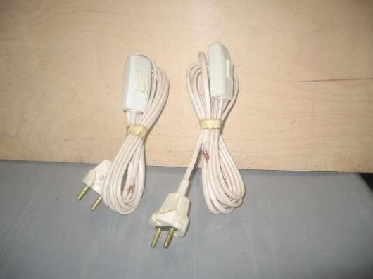 Два кабеля с вилкой и выключателем