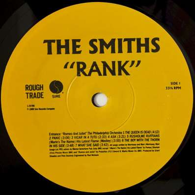 The Smiths - Rank в Санкт-Петербурге Фото 3
