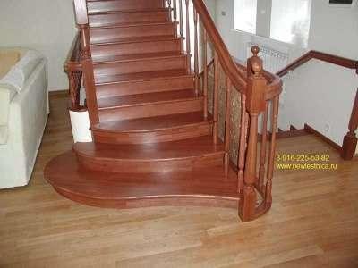 Лестницы деревянные из массива Новая Лестница в г. Долгопрудный Фото 2