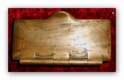 Шкатулка.Бронза 18 век. Клеймо1779г. в Иванове Фото 3