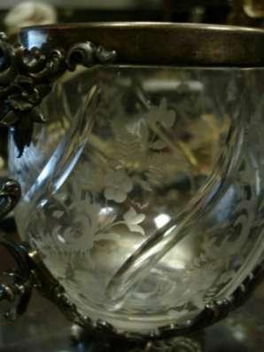 Старинная бонбоньерка(вазон),стекло,мета в Санкт-Петербурге Фото 3