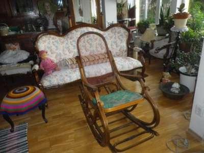 Старинное кресло качалка Россия