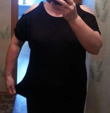 Маечка - туничка женская черная 50-52 размер