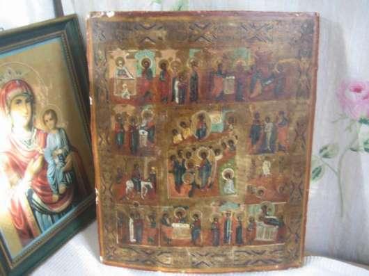 Старинную икону-Праздники Господни-XIXв