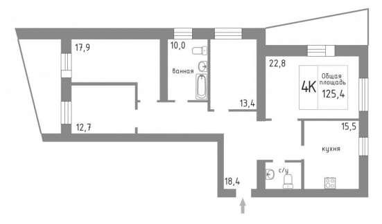 Ул. Крауля д.51. Просторная, уютная 4х комнатная. Евроремонт в Екатеринбурге Фото 1