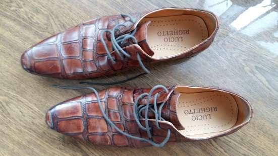 Туфли кожаные. Lucio Righertto.тиснение под крокодила.43 р-р в Краснодаре Фото 5