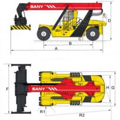 Ричстакер SANY SRSC45C2 (для стандартных 20-40-футовых контейнеров)