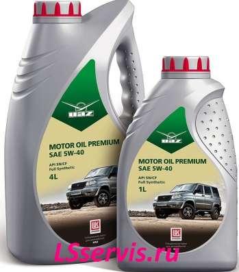 Масло UAZ Motor Oil Premium 5W40 синтетическое 4 литра