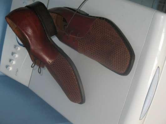 Мужские кожаные ботинки элитного бренда BRAUDE Италия в Москве Фото 4