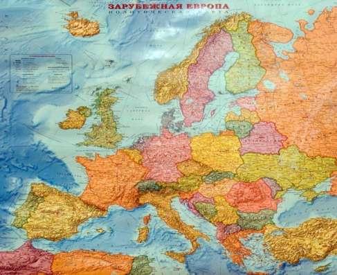 Зарубежная Европа. политическая карта