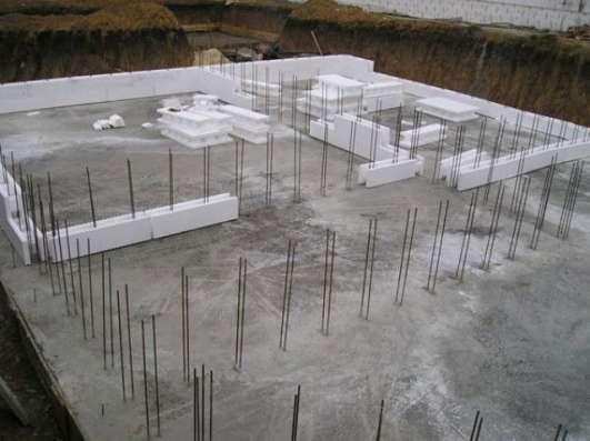 Строительство фундамента под дом, баню