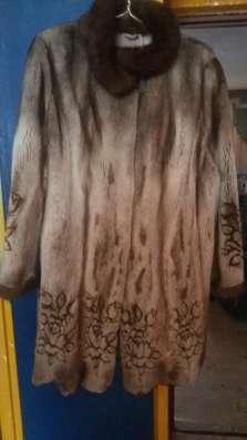 Шуба норковая с лазерным рисунком в г. Зима Фото 5