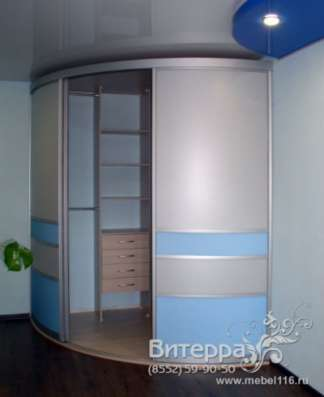 Радиусный шкаф-купе на заказ