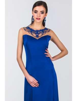 Длинное синее вечернее платье в Москве Фото 2