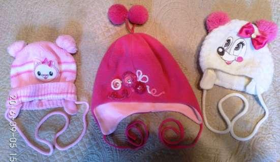 Шапочки с рождения до трех лет на девочку