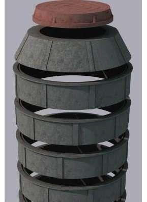 Колодец полимерно-песчаный сборный 1000м