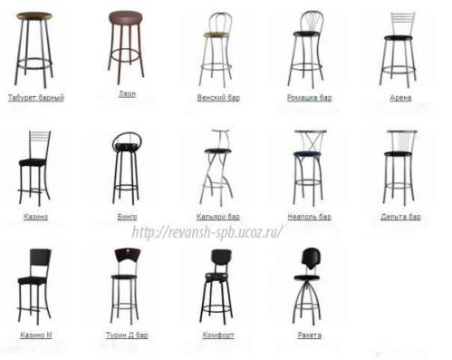Барные стулья и табуреты, металлокаркас в Санкт-Петербурге Фото 2
