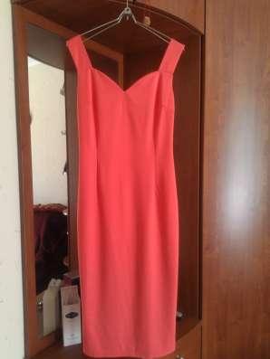Платье-сарафан кораллового цвета