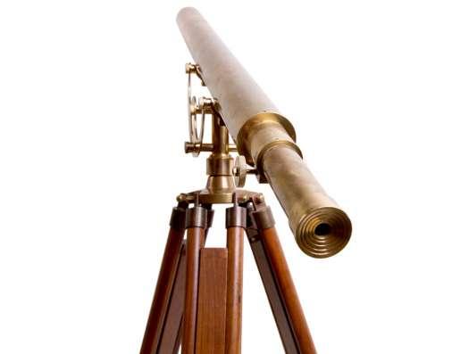 Старинный телескоп., Латунный телескоп Галилео Галилея в г. Дедовск Фото 2