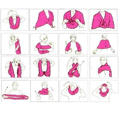 Розовый чудо - шарф новый (много вариантов носки)