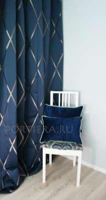 """Комплект Готовых Штор """"Art Deco Blue"""""""
