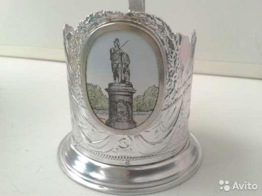 Подстаканник / Памятник А. В. Суворову/ ленэмальер