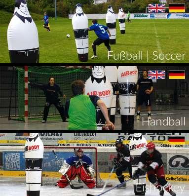 Надувные манекены игроков, футбол, гандбол, хоккей