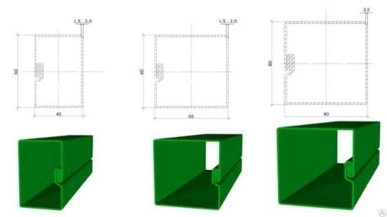 Столб Полимер для 3Д забора 60х40х2300 мм