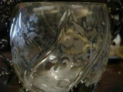 Старинная бонбоньерка(вазон),стекло,мета в Санкт-Петербурге Фото 4