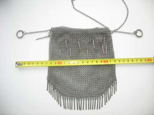 Старинная женская сумка. Серебро 84.Кольчуга в Москве Фото 5