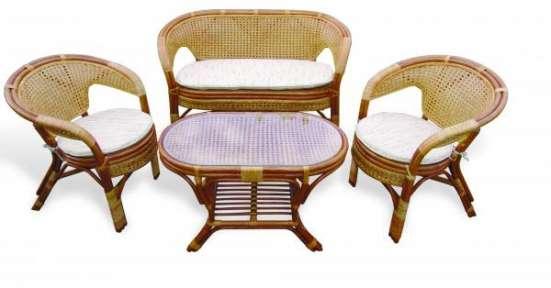 Мебель плетеная из натурального ротанга комплект 02.15