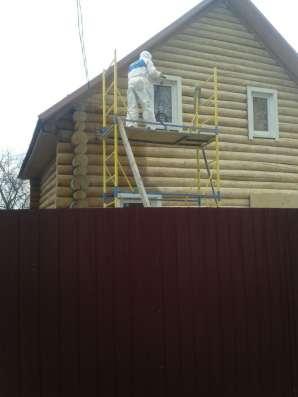 Очистка деревянных домов от краски в Москве Фото 1