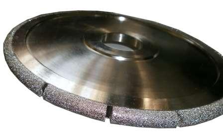 Фреза HXDW001 Vacuum brazed канелюрная профиль R7 d300хh15х60мм grit 30/40