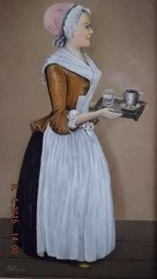 Картина от РиКо - Моя шоколадница Лариса Гузеева (масло, двп)