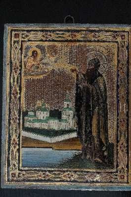 Икона преп. Варлаама Хутынского. XIХ век
