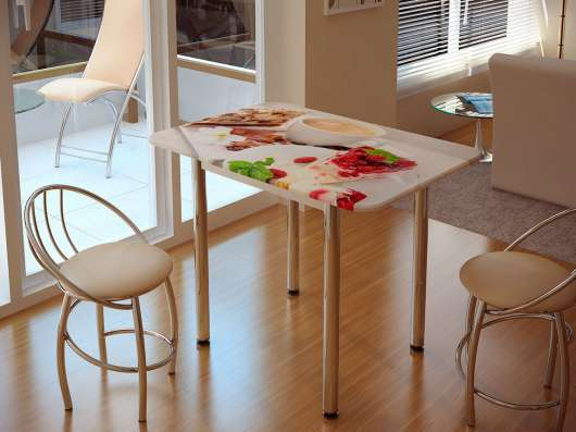 Стол для кухни с фотопечатью