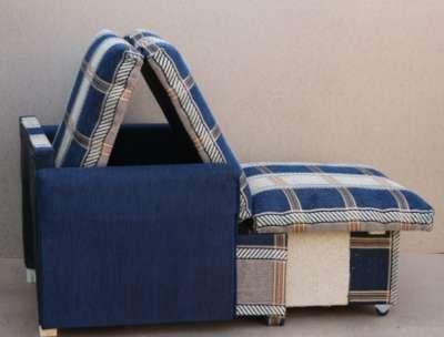 Кресло-кровать Синяя клетка шенилл 70 в Санкт-Петербурге Фото 3