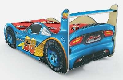 Молния Маквин Кровать-машина, цвет синий