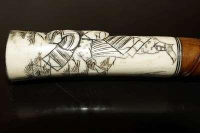 Старинная трость японского воина. XVIII