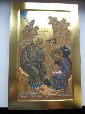 Икона храмовая.Евангелист Иоан и Прохор