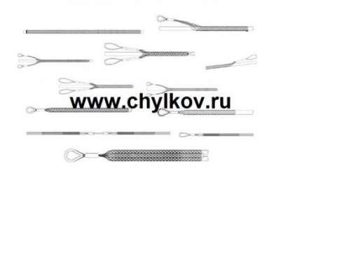 Кабельный чулок стандартный, ⌀30-40мм, L=900мм, 1 петля в Москве Фото 2