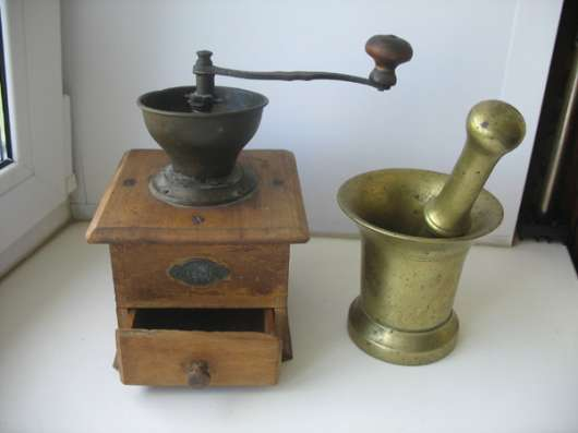 Старинная кофемолка и ступа. Бронза в Москве Фото 3