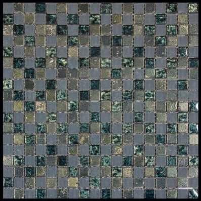 Мозаика микс камень+стекло+металл