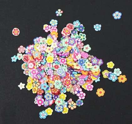 Цветы для декора новые пакетом (1000 шт.)