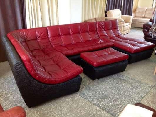 Кожаный модульный диван в стиле red&black в Москве Фото 1